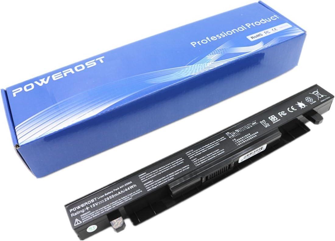 Powerost High Performance Laptop Battery for Asus X550 A41-X550 A41-X550A F550 K550 A550 F552 K450 P450 P550 R409 R510 X452 Series [Li-ion 4-Cell 15V 2950mAh/44Wh]