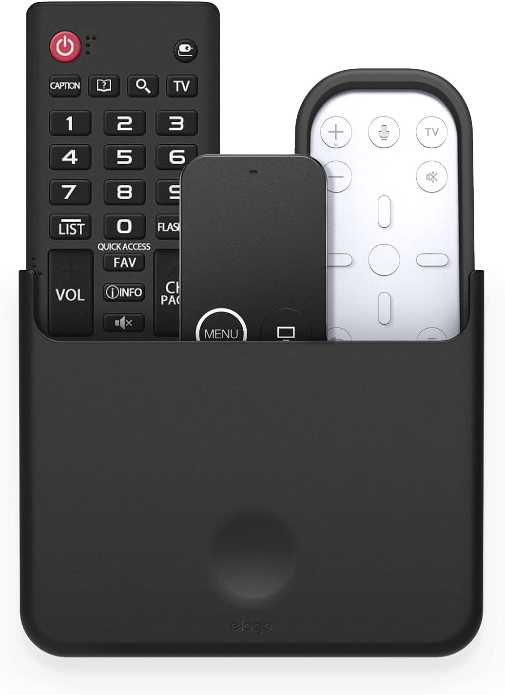 elago Universal Remote Holder Mount Compatible with Apple TV Remote Control and All Other Remote Controls [ Large ] - Gel Pad Included, Detailed Design