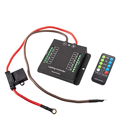 amazon com wiring control box wiring hamess kit with fuse relay and rh amazon com