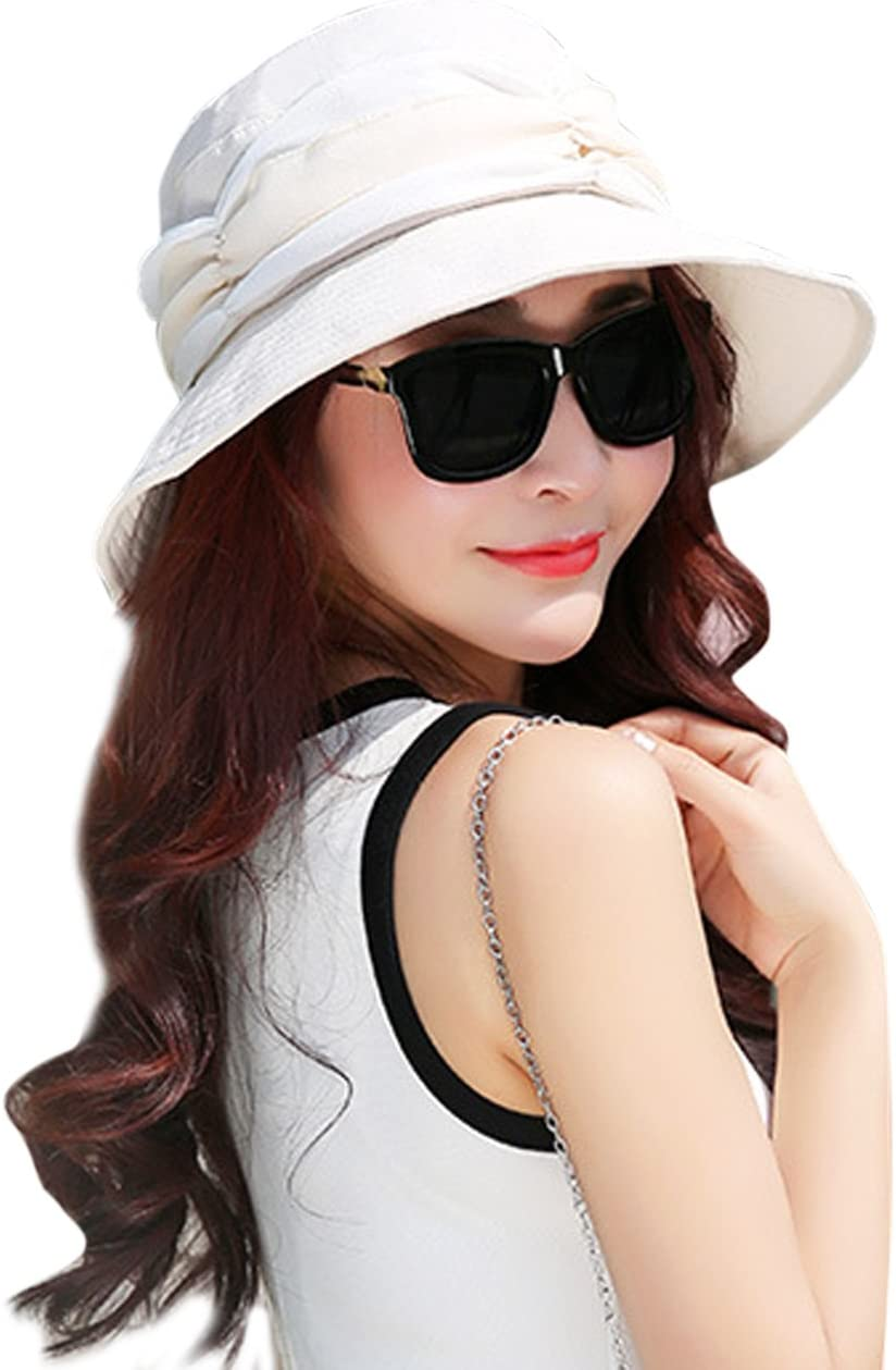360 Degrees Sun Protection Wide Brim Floppy Sun Hats 2 in 1 Foldable Removable Veil Bucket Hats Cap Breathable Hunting Camping Travel Beach Fisherman Hat Topee for Women Ladies