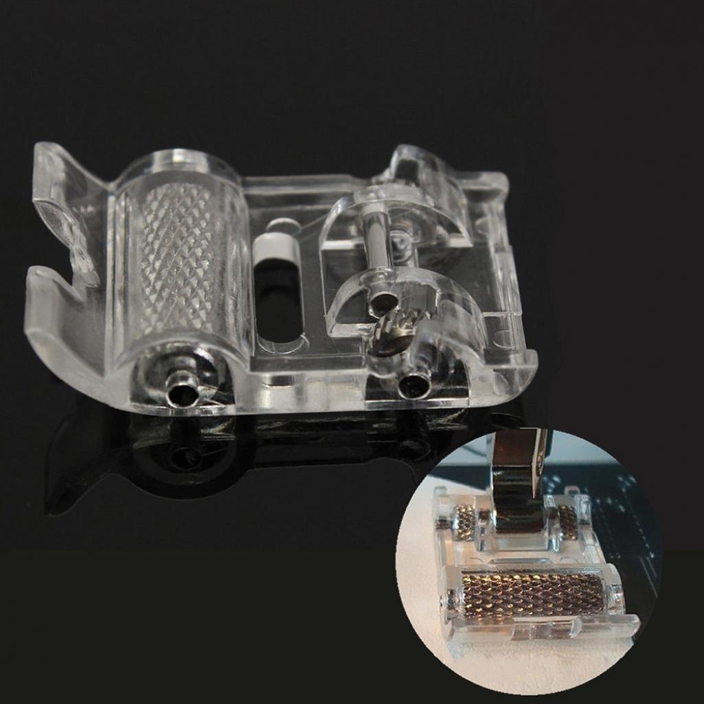 Zhouba Low Shank roller Presser Foot for Singer Brother Janome macchina da cucire domestiche taglia unica Silver