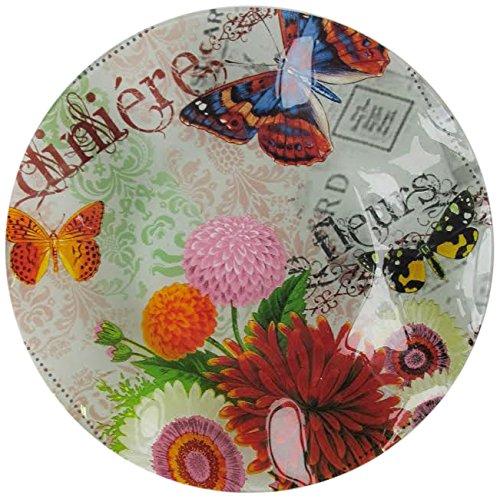 The Jay Companies Notion Bouquet De Fleur Glass Wave Bowl, -