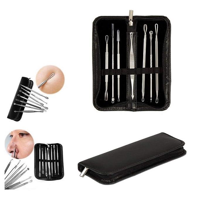 Hengyuanyi Extractor de comedones para puntos negros, kit de herramientas para eliminar manchas de acné, espinillas y granos, para hombres y mujeres, ...