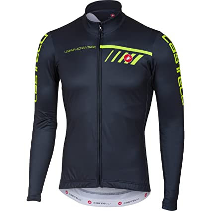 Castelli Velocissimo 2 Full-Zip Long-Sleeve Jersey - Men s Light  Black Yellow df3a38305