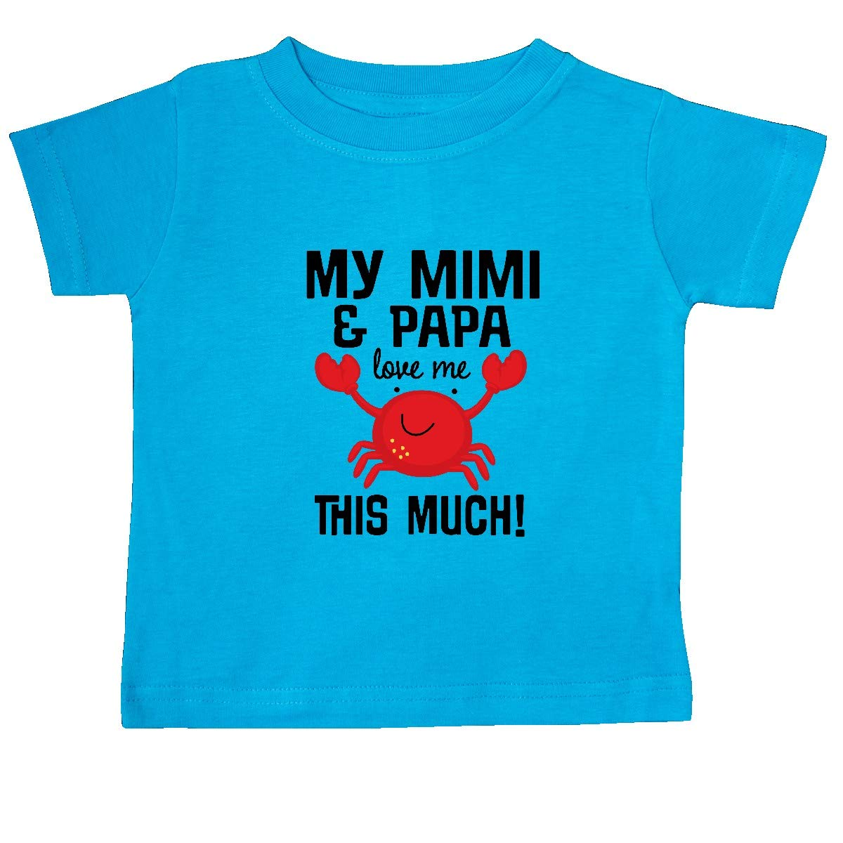inktastic Mimi and Papa Love Me Crab Baby T-Shirt