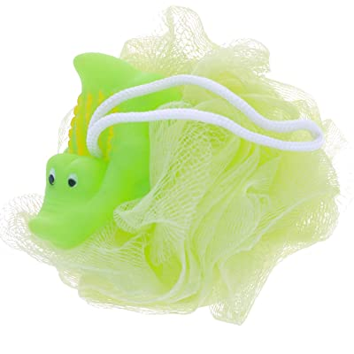 KidPlay Products Rubber Animal Bath Sponge Green Squeakable Alligator: Home & Kitchen
