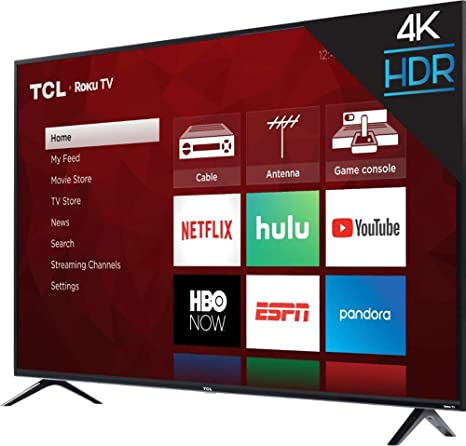 "4 Series 4K UHD TV with HDR LED Roku TV 50/"" Class Smart 2160p TCL"