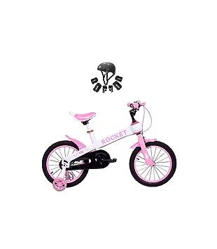 Bicicleta Infantil Modelo Rocket con Ruedas de 12 Color Rosa