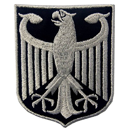 - Germany Coat of Arms German Eagle Shield Metallic Embroidered Iron On Sew On Patch