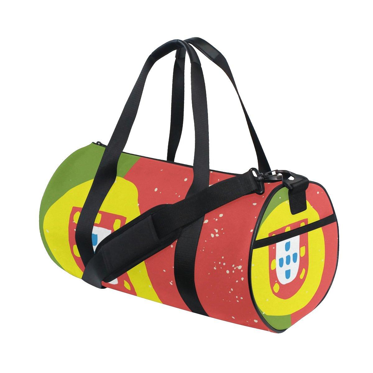 Distressed Portugal Flag Travel Duffel Shoulder Bag ,Sports Gym Fitness Bags