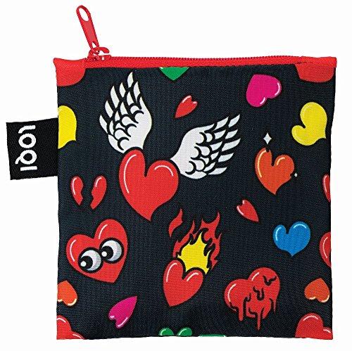 POP Travel LOQI Bag 50 Hearts Bag Shopping cm xpxqwnaT