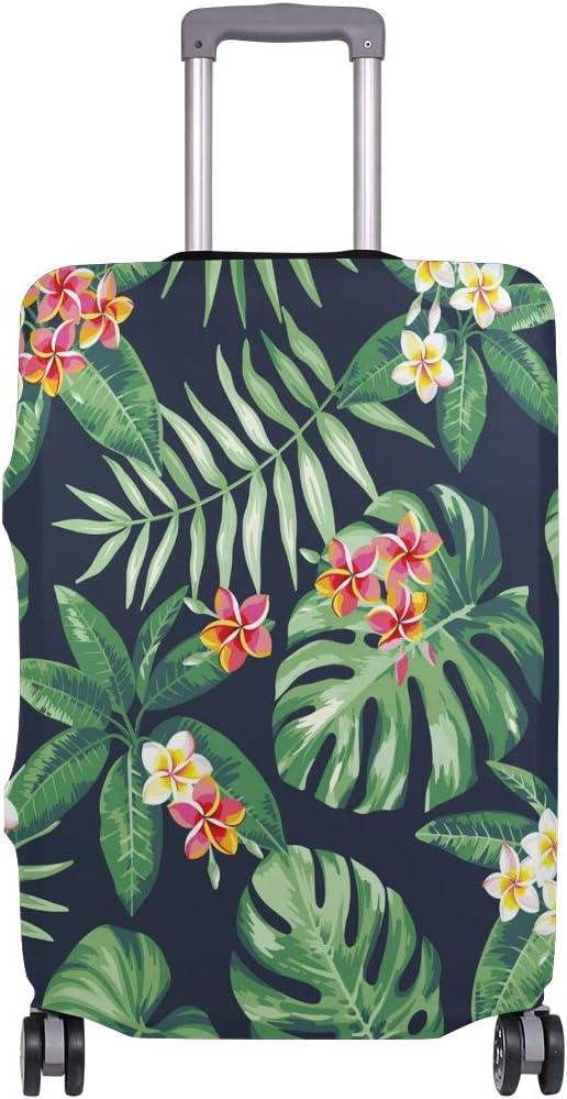 Orediy Funda elástica para equipaje de viaje con estampado de flores tropicales, funda para maleta (sin maleta), talla S, M, L, XL, multicolor (Multicolor) - suitcasecover