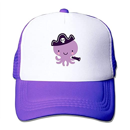 Amazon.com  Purple Octopus Mesh Baseball Cap Unisex Adult Adjustable ... 543cc0c4d40e