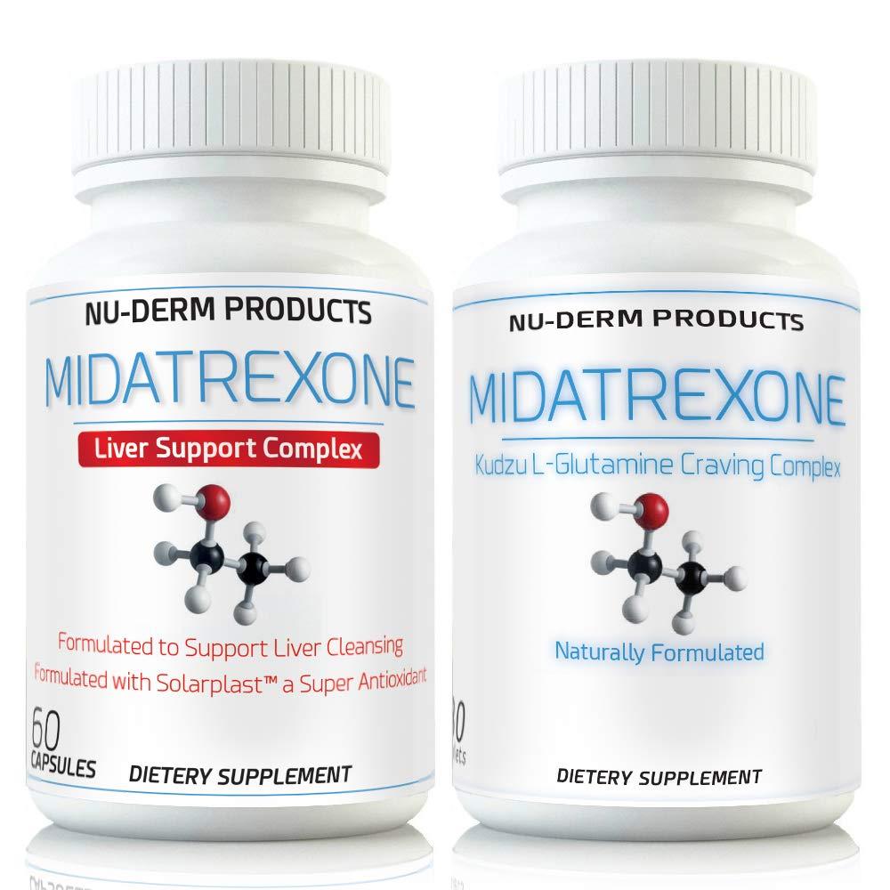 M Trexone- Anti-Alcohol & Alcohol Support Liver Detox Combo Supplement Natural Alcohol Cravings Support Liver Detox Kudzu L Glutamine Folate Niacin Biotin B Vitamins
