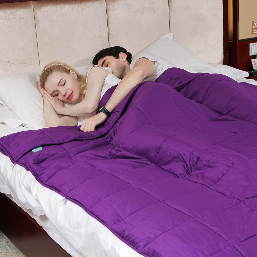 Lavender Weighted Blanket Sleeper by Weighted Idea for Adult Women and Men - Occupational Therapy for Anxiety, Insomnia, Agitation, Autism, ADHD - Fits King Size Beds - Purple (80''x87'', 30 lbs)