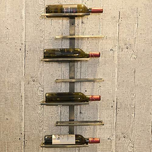 GWFVA Wine Rack Creative Wrought Iron Wall Hanging Home Wine Display Stand Geometric (Color : C)
