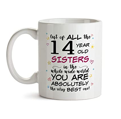 14th Sister Birthday Gift Mug