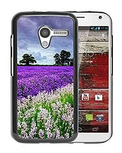 Nature Lavender Flower Filed Garden Durable High Quality Motorola Moto X Phone Case