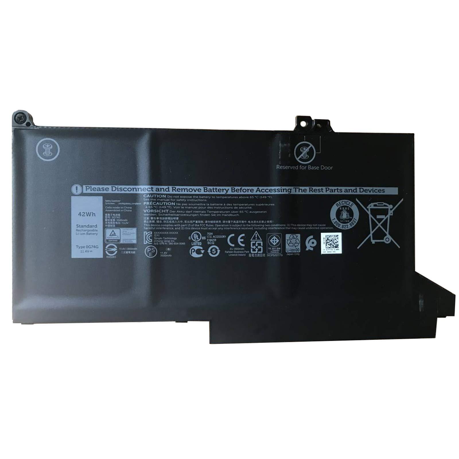 Bateria 11.4V 42Wh/3500mAh 0G74G Dell Latitude 13 5300 7300