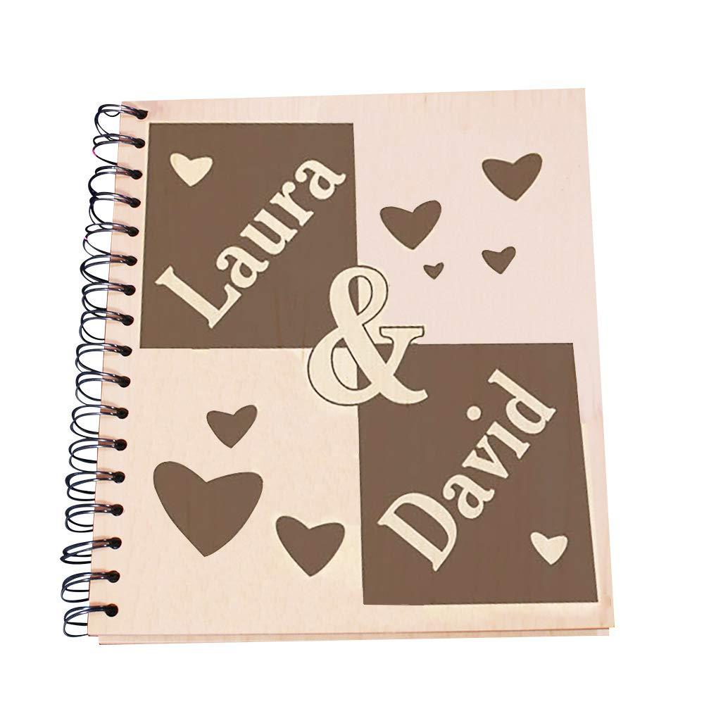 Amazoncom Giftsforyounow Engraved Couples Wood Photo Album Holds