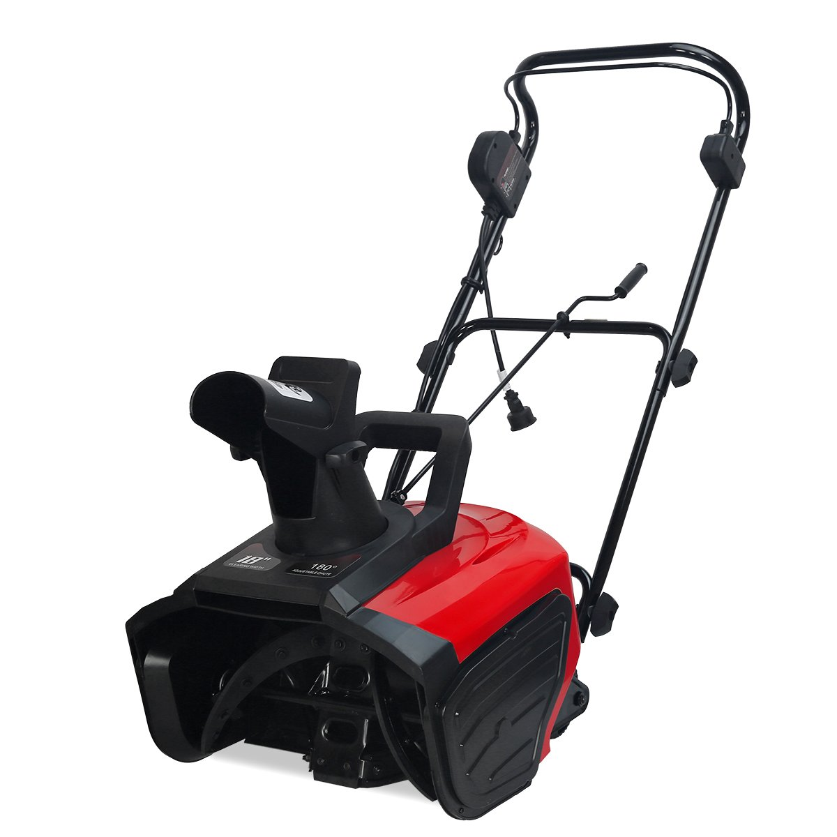 XtremepowerUS 1600w Ultra Electric Snow Blaster 18-Inch Electric Snow Thrower Adjustable Directional Driveway Walkway