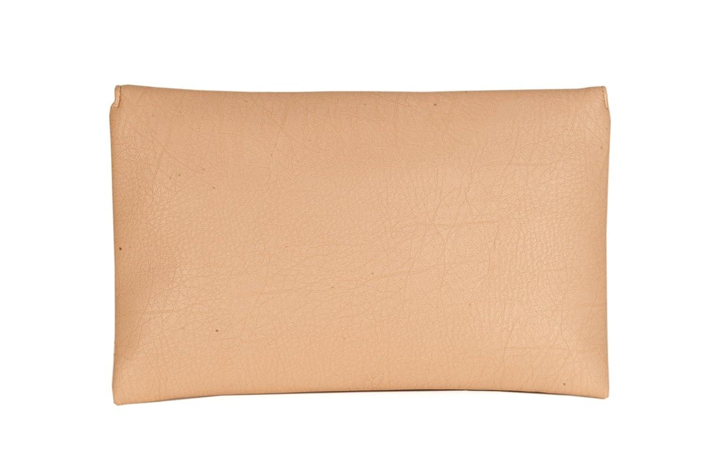 SG Collection Women's Beige Embellished Fringe Clutch