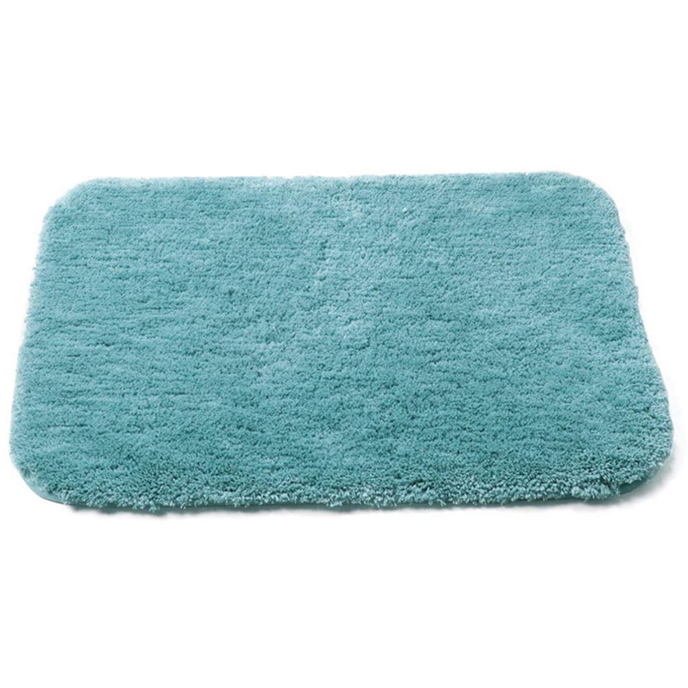 WHAIYAO Bathroom Mat Family Hotel Superfine Fiber High Water Absorption Non-Slip Bottom Durable and Easy to Wash, 4 Colors, 2 Size (Color : Blue, Size : 90X60cm)