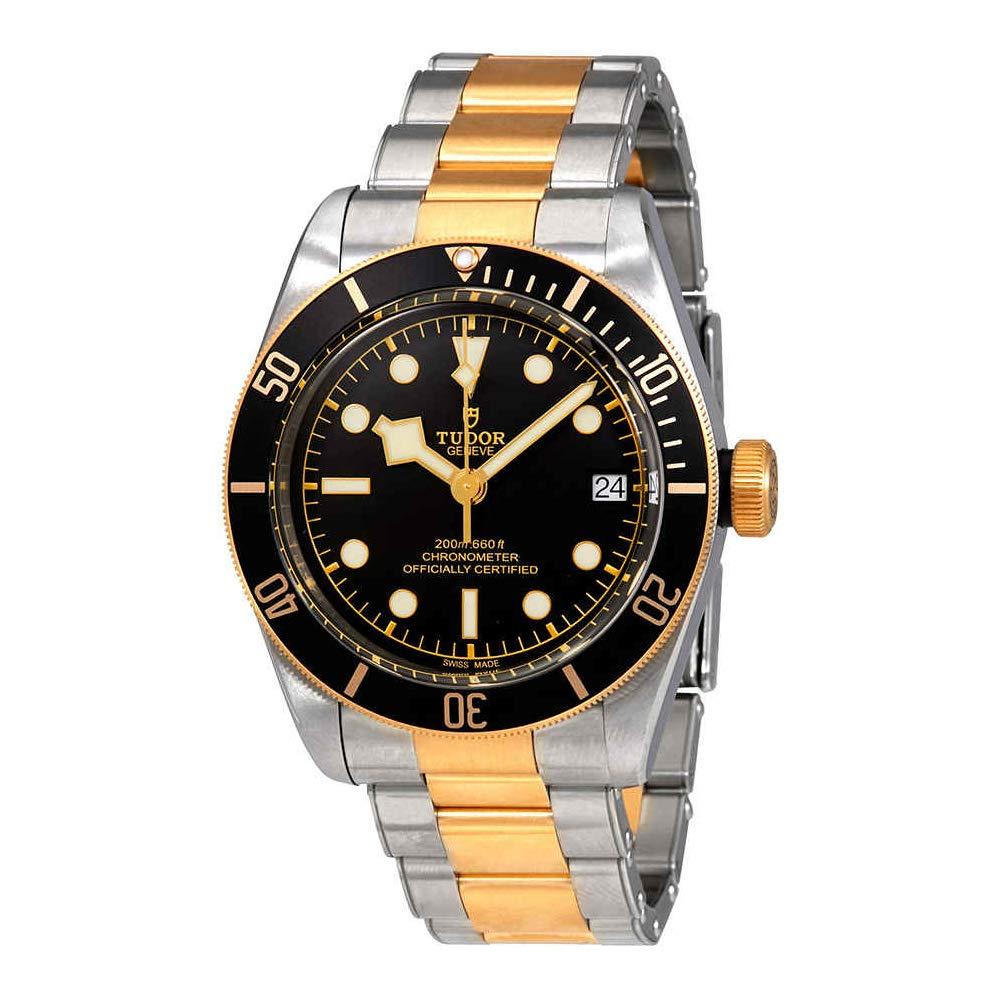 para Hombre Tudor Patrimonio Negro Bahía Oro 79733 N 41 mm: Tudor: Amazon.es: Relojes