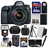 Canon EOS 6D Mark II Wi-Fi Digital SLR Camera & EF 24-105mm f/4L IS II USM Lens + 64GB Card + Case + Flash + Battery & Charger + Tripod + Filters Kit