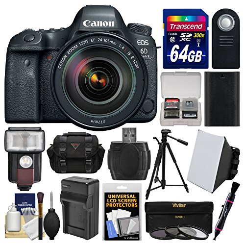 Canon EOS 6D Mark II Wi-Fi Digital SLR Camera & EF 24-105mm