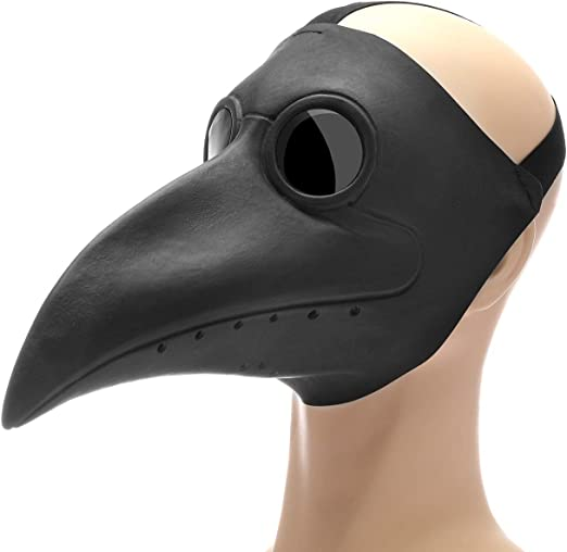 MC Long Beak Bird Masks for Adults PU Leather Steampunk Props for Halloween Costume