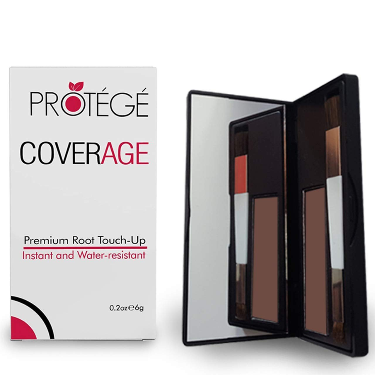 Premium Root Touch Up - CoverAge - Instant Root Concealer to Cover Roots and Grays Between Salon Trips - Water Resistant - Light Brown
