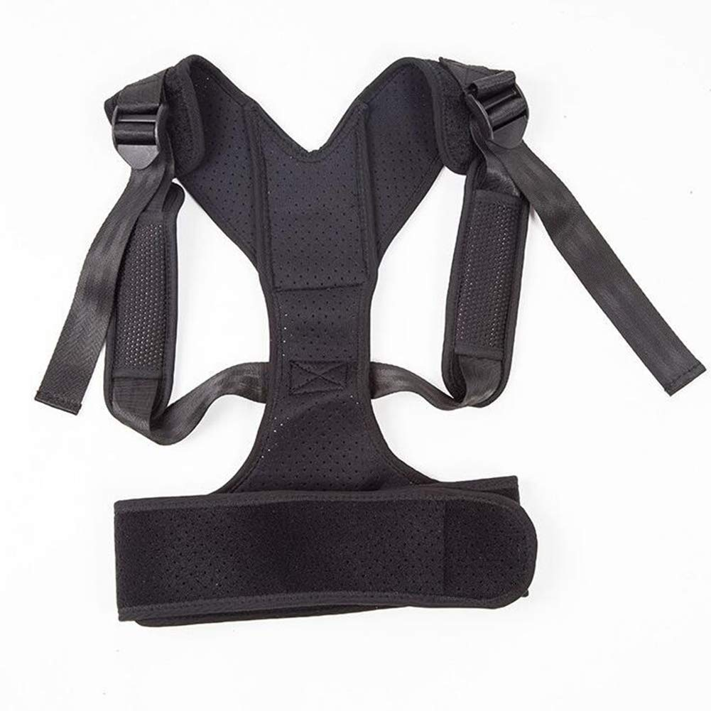 BYMZXBN Back Correction Belt, Back Lumbar Support Kyphosis Correction Belt Adult Correction (Black)