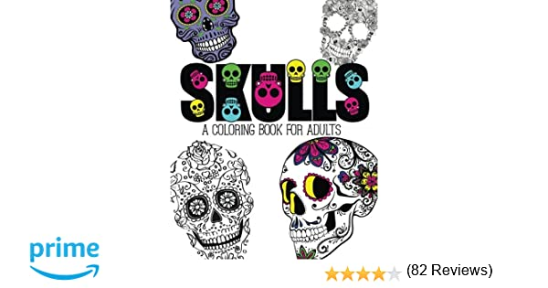amazoncom skulls an adult coloring book 9781517006082 pink ink designs books