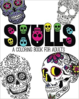 Amazon Com Skulls An Adult Coloring Book 9781517006082 Pink Ink