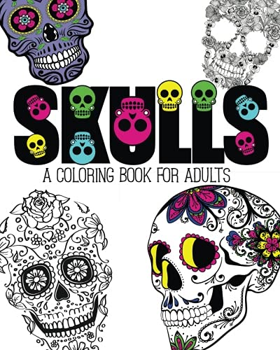 Amazoncom Skulls An Adult Coloring Book 9781517006082 Pink Ink
