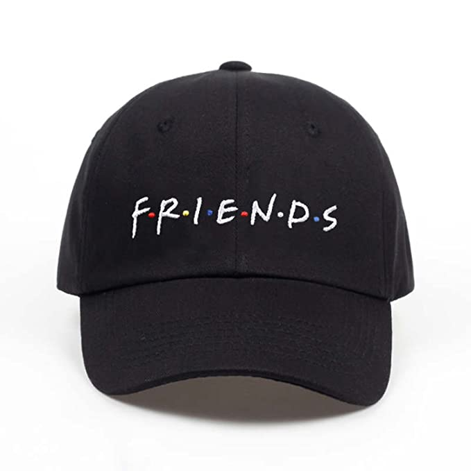 4009e816507 ANDERDM 2019 Friends Letter Embroidery Baseball Cap Women hat Adjustable  Men Fashion Dad Hats Wholesale Black