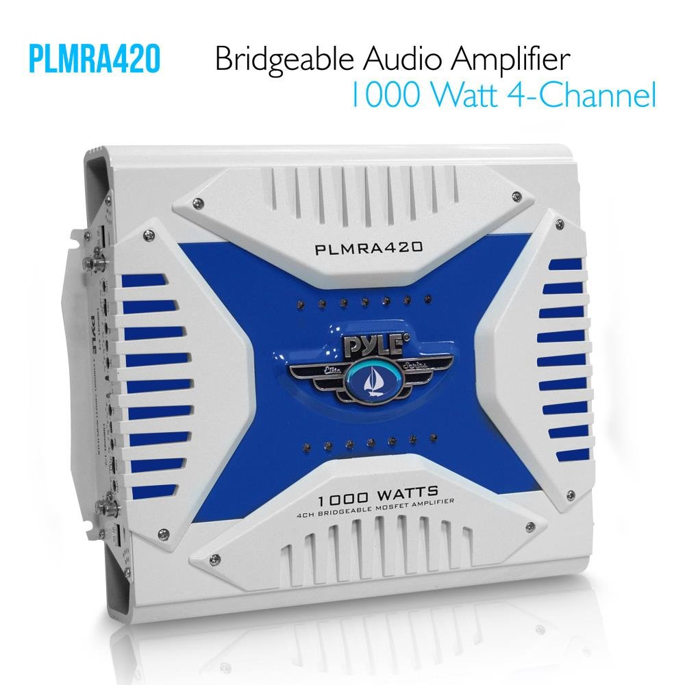 Amazon.com: Pyle Hydra Marine Amplifier - Upgraded Elite Series 1000 Watt 4  Channel Bridgeable Amp Tri-Mode Configurable, Waterproof, MOSFET Power  Supply, ...