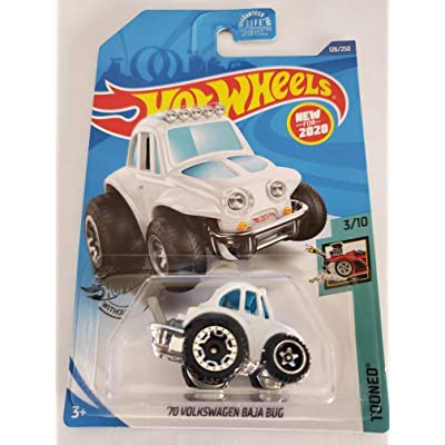 Hot Wheels 2020 Tooned '70 Volkswagen Baja Bug, White 126/250: Toys & Games