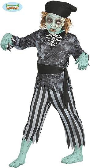 Guirca Disfraz de Pirata Esqueleto para niños: Amazon.es: Juguetes ...