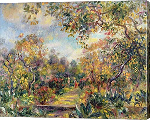 Landscape at Beaulieu, c.1893 by Pierre-Auguste Renoir Canvas Art Wall Picture, Gallery Wrap, 15 x 12 inches