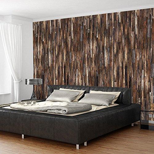 PURO TAPETE | 3 Motive zur Auswahl | Realistische Holzoptik Tapete ohne Rapport und Versatz | Kein sich wiederholendes Muster | 10m VLIES Tapetenrolle | Holz f-A-0205-j-d