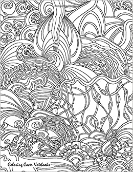 Coloring Cover Sketchbook Deep Sea For Sketching Drawing Writing Research And Journaling With Design On Therapy