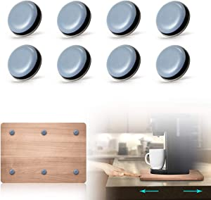AIEVE Sliding Tray for Coffee Maker, Adhesive Magic Telfon Self Stick Sliders Coffee Pot Slider Compatible with Coffee Makers, Stand Mixers, Blenders, Air Fryers, Pressure Cooker and More (DIY)