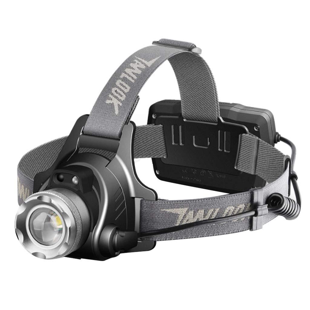 ZZ headlamp LED-Scheinwerfer, Wiederaufladbare Stirnlampe 3000m zum Angeln, Kletternde Sturzhelme