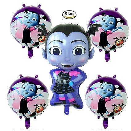 Amazon Com Vampirina Balloon Set Of 5 Includes 1 Large Vampirina