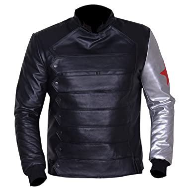 New Bucky Barnes Winter Soldier Leather Jacket