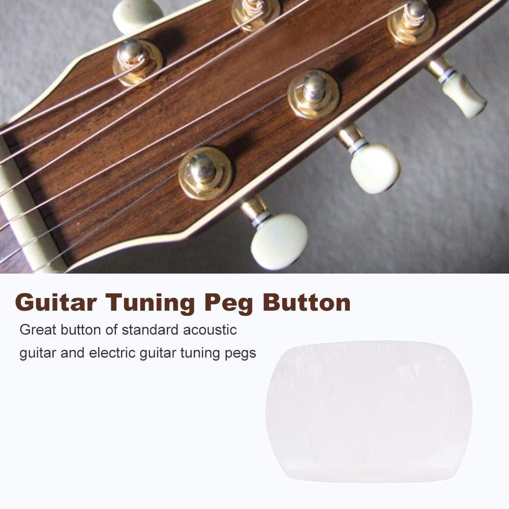 Dilwe Botón de Clavija de Afinación de Guitarra, 6 PCS/Set Tuning Pegs Cabezas de Maquinas Botones de Acrílico para Guitarra(# 4): Amazon.es: Deportes y ...