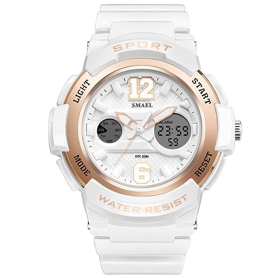 Amstt – Reloj analógico y digital de pulsera para mujer, reloj deportivo