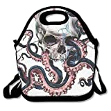 All Products : Octopus Skull Insulated Lunch Bag Picnic Lunch Tote For Work, Picnic, Travelling